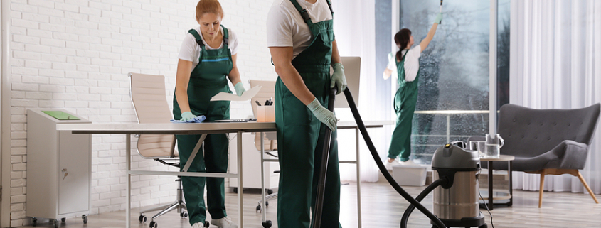 Team of commercial cleaning professional in Sydney CBD